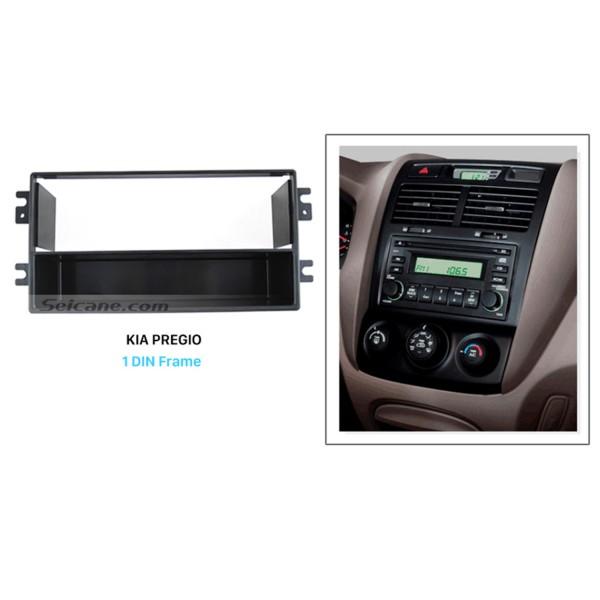 Luxury 1Din 2005-2009 KIA PREGIO II Car Radio Fascia Dash Installation Kit Face Plate Panel Audio Fitting Frame Adaptor
