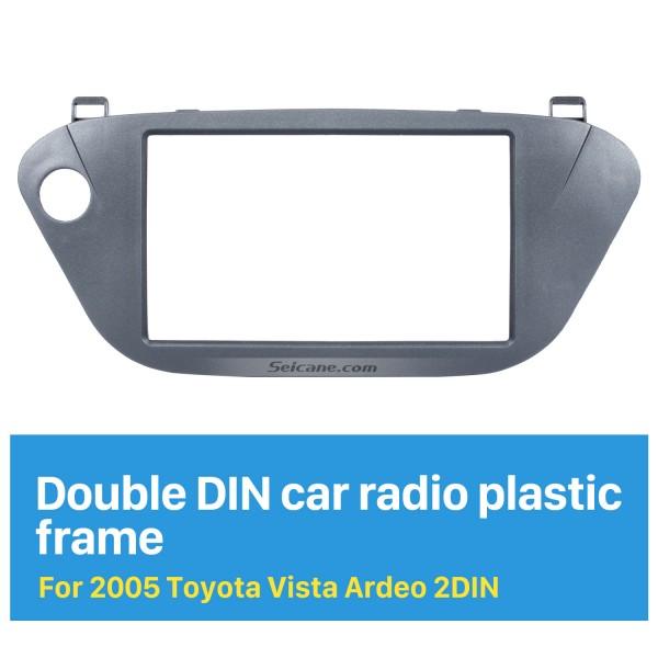 Popular 2 Din 2005 Toyota Vista Ardeo Car Radio Fascia Dash Kit Trim Bezel Car refitting DVD frame