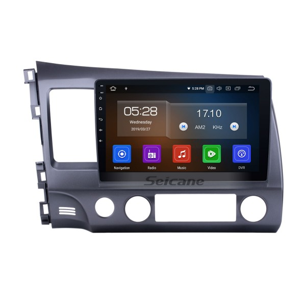 Android 8.1 Autoradio Navigation Aftermarket Stereo for 2006-2011 Honda Civic with 3G WiFi DVD Radio RDS Bluetooth Mirror Link OBD2 Steering Wheel Control AUX