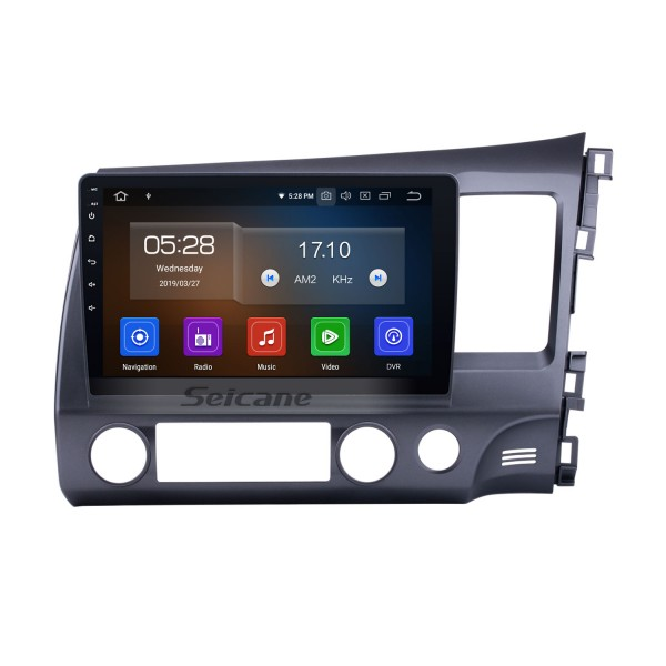 All-in-one 10.1 inch Android 10.0 Radio Removal for 2006-2011 Honda Civic RHD GPS Head Unit 1024*600 Multi-touch Capacitive Screen Bluetooth Music MP3 Mirror Link OBD2 AUX 3G WiFi HD 1080P