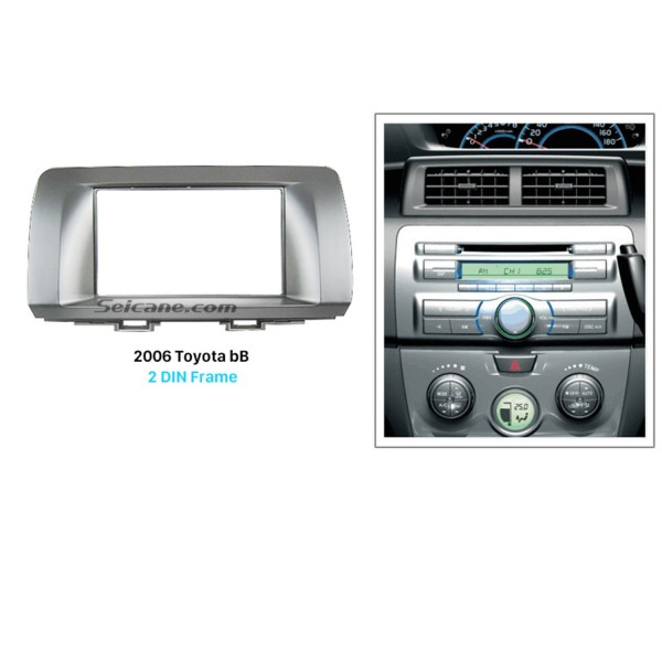 Fantastic Double Din 2006 Toyota bB Car Radio Fascia Dash Mount Kit Frame Audio Player Panel Plate