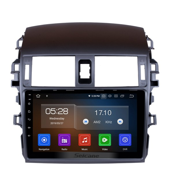 9 Inch For 2007 2008 2009 2010 COROLLA Android 10.0 Touch Screen radio Bluetooth GPS Navigation system For DVR OBD II 3G/4G WiFi Rear camera Steering Wheel Control IPS Full Screen View
