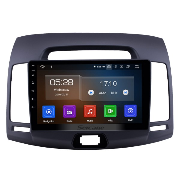 Android 10.0 9 inch GPS Navigation Radio for 2007-2011 Hyundai Elantra with HD Touchscreen Carplay Bluetooth WIFI USB AUX support Mirror Link OBD2 SWC