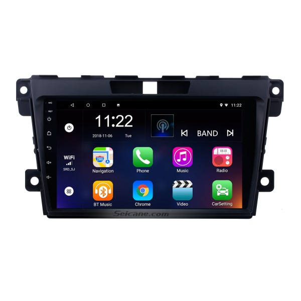 9 Inch Touch Screen Android 10.0 Aftermarket Navigation System For 2007-2014 Mazda CX-7 Support Steering Wheel Control Bluetooth Music Radio