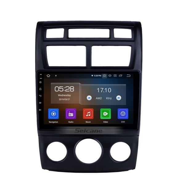 HD Touchscreen Android 10.0 9 Inch Radio for 2007-2017 KIA Sportage Auto A/C GPS Navigation Bluetooth music FM RDS WIFI USB support 4G Carplay DVD TPMS DVR OBD