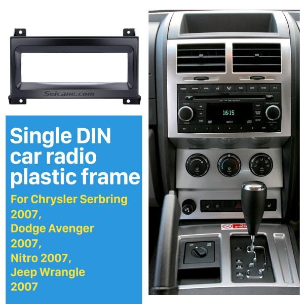 Car Radio Fascia for 2007 Chrysler Serbring Dodge Avenger Nitro Jeep Wrangler Vehicle-mounted Face Plate Install Frame Trim Bezel Kit