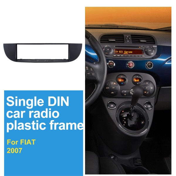 Well-crafted 1Din Car Radio Fascia for 2007 FIAT 500 Dash Mount Kit Adapter Audio Player DVD Frame