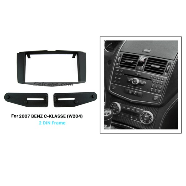 Superb Double Din 2007 Mercedes BENZ C-Class W204 Car Radio Fascia Dash CD Trim Installation Frame Kit Panel Adaptor Car Styling