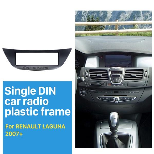 Top Quality 1Din Car Radio Fascia for 2007+ RENAULT LAGUNA In Dash Mount Kit car stereo installation Frame CD Trim Panel