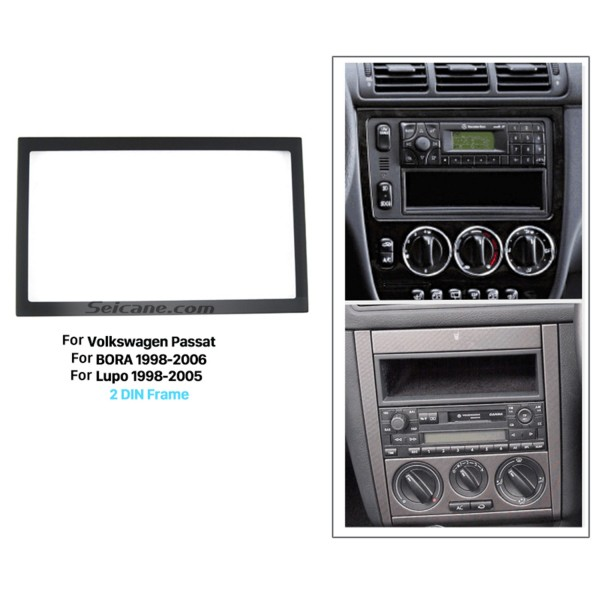 173*98mm Double Din 2008-2011 Volkswagen Passat Car Radio Fascia Stereo Dash DVD Frame CD Installation Kit