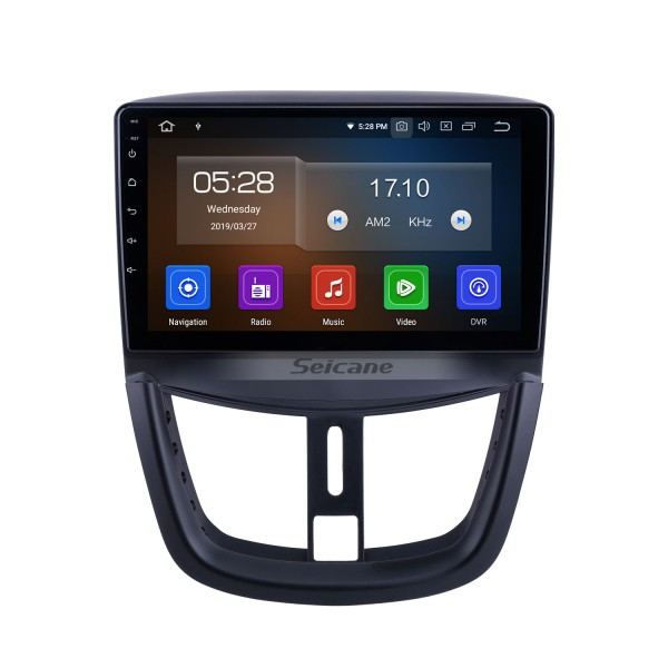 Android 10.0 for 2008-2012 2013 2014 Peugeot 207 Radio 9 inch GPS Navigation with HD Touchscreen Carplay Bluetooth support Digital TV