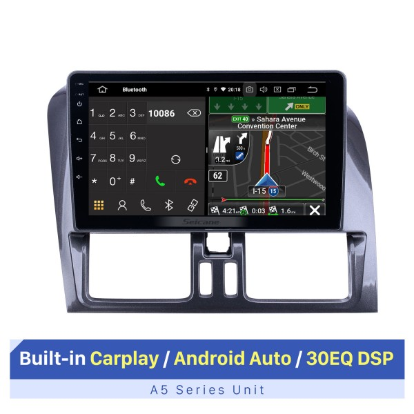 HD Touchscreen for 2008-2014 2015 2016 Volvo XC60 Radio Android 10.0 9 inch GPS Navigation Bluetooth WIFI Carplay support DVR DAB+
