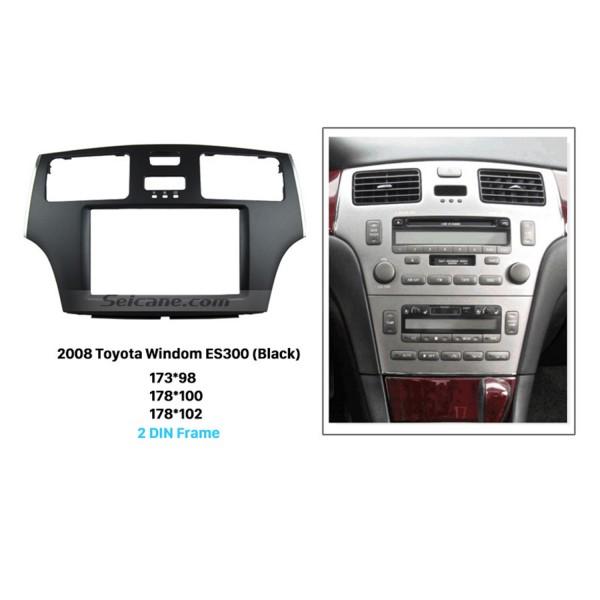 Black 2Din 2008 Toyota Windom ES300 Car Radio Fascia Stereo Dash CD Trim Installation Frame Face Plate Panel