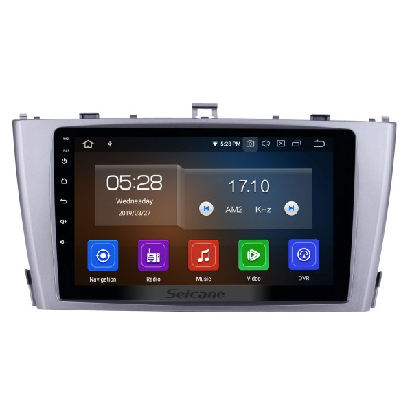 2009-2013 Toyota AVENSIS 9 inch HD Touchscreen Android 10.0 Radio GPS Navigation system with FM WIFI Quad-core CPU Bluetooth Music USB support SWC Backup Camera DVD Player