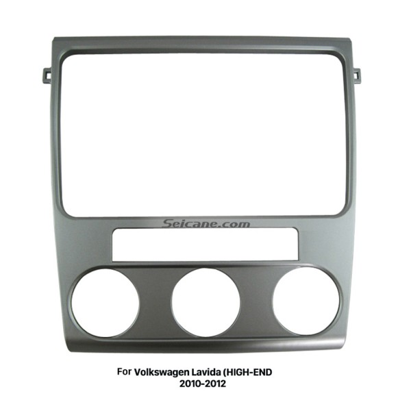 Silver Double Din 2010 2011 2012 Volkswagen Lavida HIGH-END Car Radio Fascia Stereo Dash Outter Frame Panel Kit DVD Player