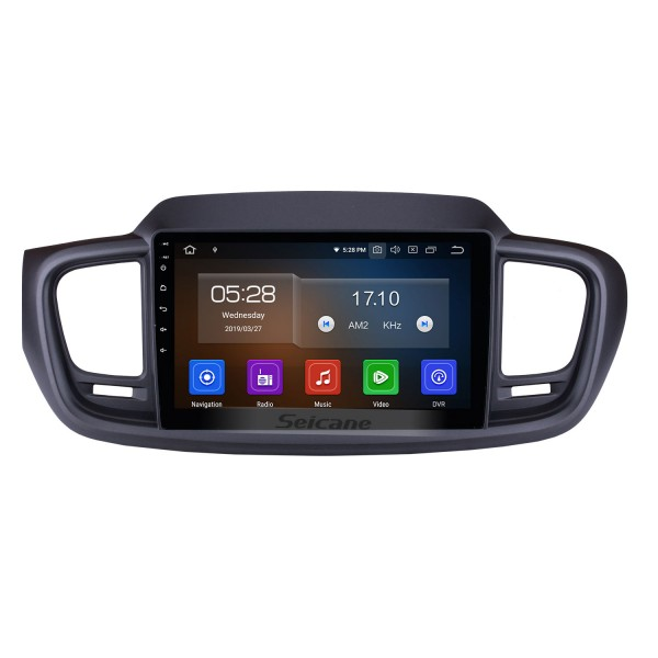 9 inch 2015 2016 Kia Sorento Android 9.0 Radio bluetooth GPS Navigation System with Backup Camera TPMS Steering Wheel Control Mirror link OBD2 DVR Rearview camera digital TV
