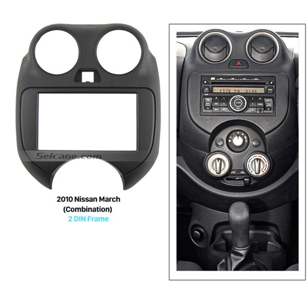Combination Double Din 2010 Nissan March Car Radio Fascia Dash Mount Kit Adapter CD Trim Face Plate Panel Install Frame