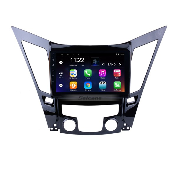 9 Inch All-in-One Android 10.0 GPS Navigation system For 2011-2015 HYUNDAI Sonata i40 i45 with Touch Screen TPMS DVR OBD II Rear camera AUX USB SD Steering Wheel Control 3G WiFi Video Radio Bluetooth