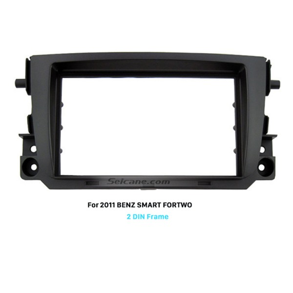 Black Double Din 2011 Mercedes BENZ SMART FORTWO Car Radio Fascia DVD Frame Face Plate Panel Trim Installation Kit