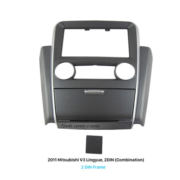 Terrific Double Din 2011 Mitsubishi V3 Lingyue Car Radio Fascia Stereo Dash Kit Installation Frame Trim Bezel Panel Adaptor