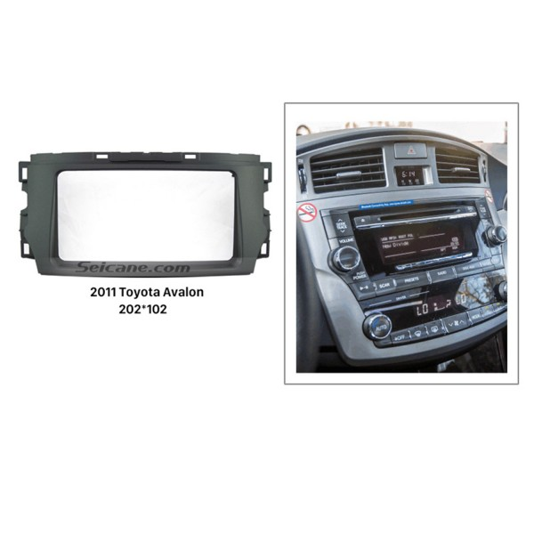 Black Double Din 2011 Toyota Avalon Car Radio Fascia DVD Trim Frame Installation Kit Face Plate Stereo Interface