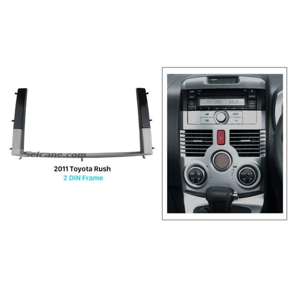 Separate Double Din 2011 Toyota Rush Car Radio Fascia Autostereo Panel kit Trim Bezel DVD Player Frame