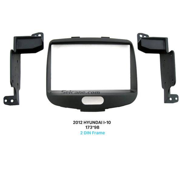 Superior Double Din 2012 HYUNDAI I-10 Car Radio Fascia Surround Panel Stereo Install Frame CD Trim