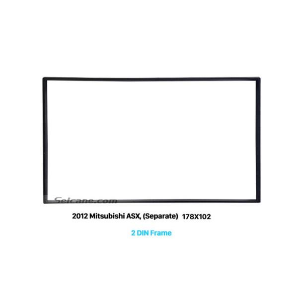 178*102mm Double Din 2012 Mitsubishi ASX Car Radio Fascia Dash CD Trim Installation Kit Fitting Frame Panel Adaptor