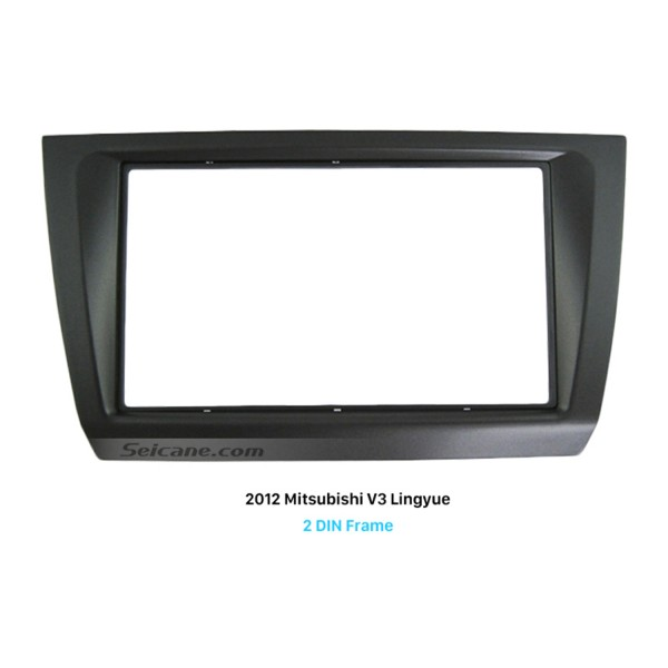 Durable Plastic 2Din 2012 Mitsubishi V3 Lingyue Car Radio Fascia Auto Trim Stereo Installation Kit Audio Frame