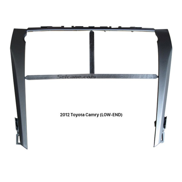 Silver Car Radio Fascia for 2012 Toyota Camry LOW-END Dash CD Trim Installation DVD Frame Stereo Player