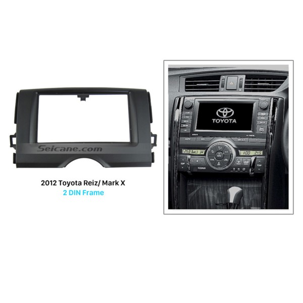 Newest Double Din 2012 Toyota Reiz Mark X Car Radio Fascia Autostereo Panel kit Trim Bezel  Frame Face Plate