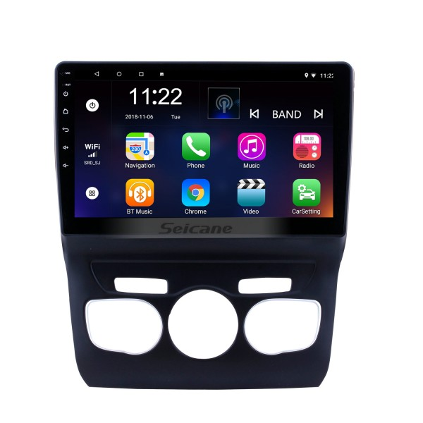 10.1 inch HD touchscreen Android 10.0 GPS Navigation System Bluetooth Radio for  2013 2014 2015 2016 Citroen C4 LHD Steering Wheel Control Support DVR Rear View Camera WIFI OBD II