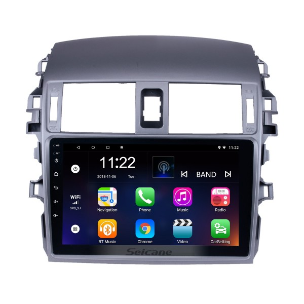 9 inch 2007 2008 2009 2010 Toyota OLD Corolla Android 10.0 Bluetooth Radio GPS Navigation Head unit Support WIFI 1080P Video Backup Camera Audio system DVR OBD2