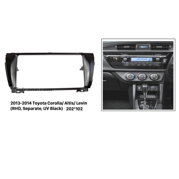 Separate 2Din 2013 2014 Toyota Corolla Altis Levin RHD Car Radio Fascia Surround Panel Dash CD DVD Frame