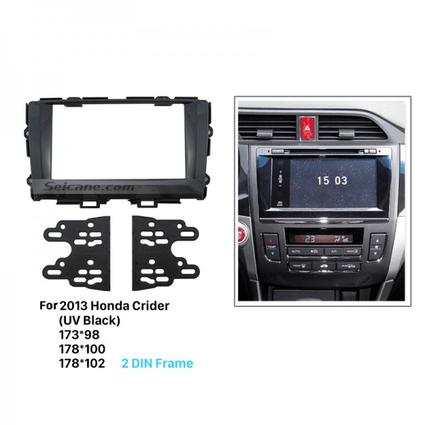 Classic Double Din 2013 Honda Crider Car Radio Fascia Dash Installation Kit DVD Stereo Player CD Frame Panel