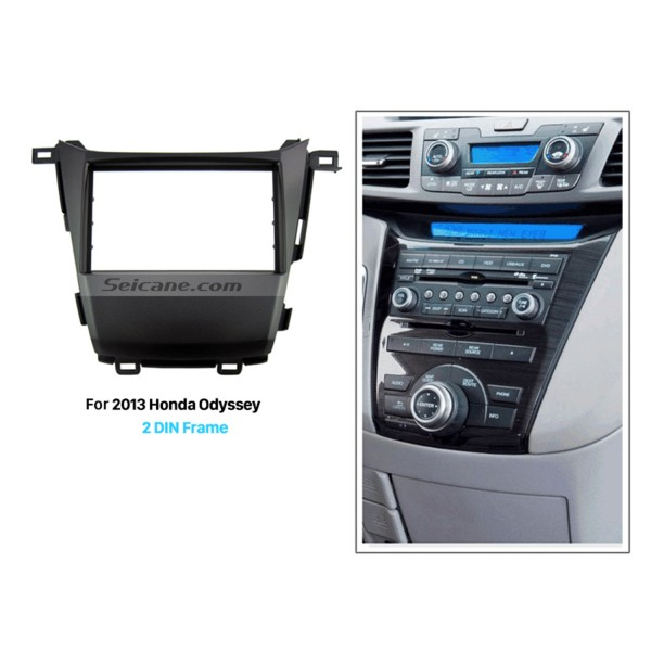 Perfect 2Din 2013 Honda Odyssey Car Radio Fascia Audio Cover Frame Dash Mount Auto stereo Adapter DVD Player