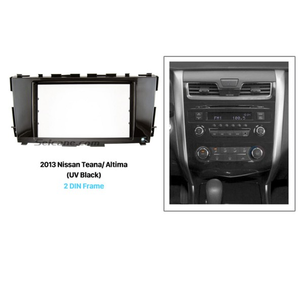 UV Black Double Din 2013 Nissan Teana Altima Car Radio Fascia CD Installation Kit Audio Fitting Adaptor Panel Frame