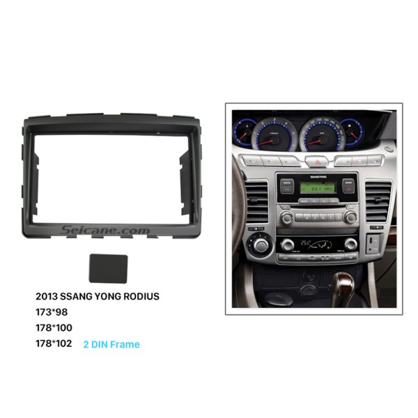 Pretty 2 Din Car Radio Fascia for 2013 SSANG YONG RODIUS DVD Frame Panel Dash Kit Panel Adaptor Stereo Interface