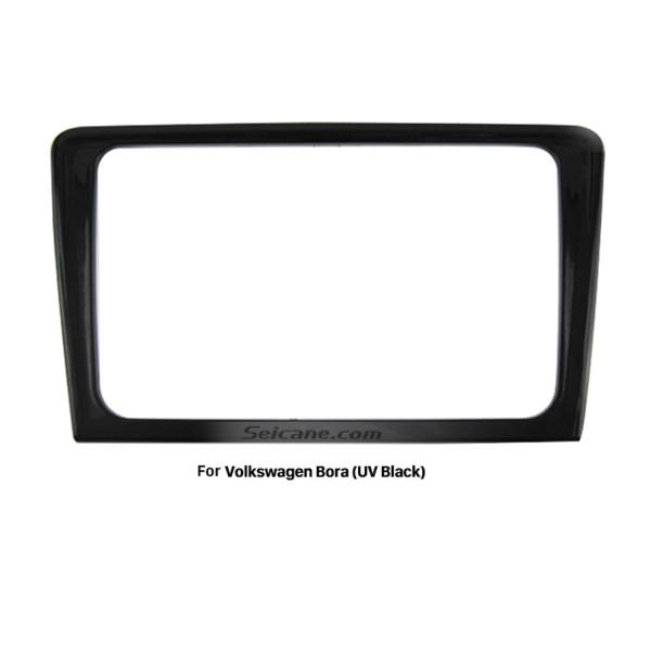 UV Black Double Din 2013 Volkswagen Bora Car Radio Fascia Stereo Frame Dash Kit Face Plate Panel Adpptor