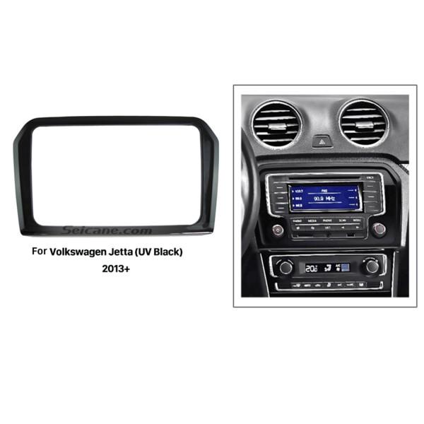 UV Black 2Din 2013 Volkswagen Jetta Car Radio Fascia Dash CD DVD Frame Trim Panel Audio Cover