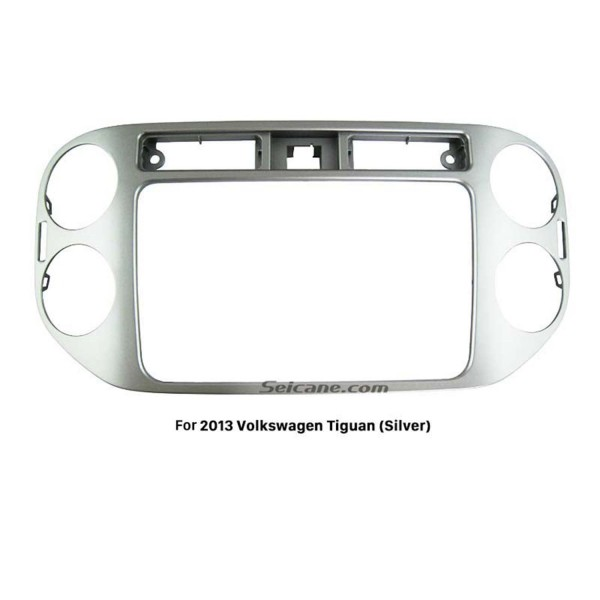 Silver Double Din 2013 Volkswagen Tiguan Car Radio Fascia Stereo Dashboard Frame Panel Trim Installation