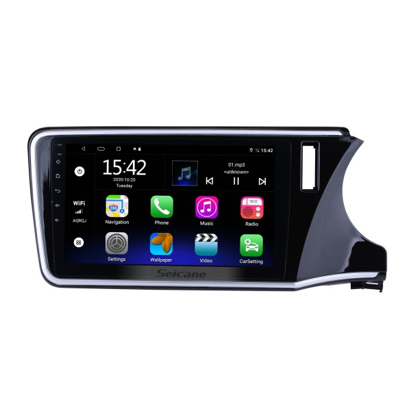 10.2 inch 1024*600 Touch Screen Android 5.0.1 2014 2015 Honda CITY  Radio with 4G WIFI Bluetooth Music Backup Camera Digital TV Steering Wheel Control USB OBD2 TPMS