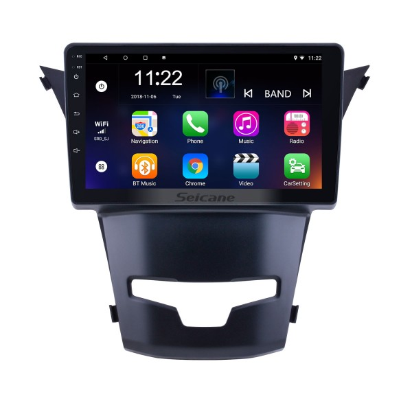 OEM 9 inch Android 10.0 for 2014 2015 2016 SsangYong Korando Radio Bluetooth HD Touchscreen GPS Navigation support Carplay DAB+ OBD2