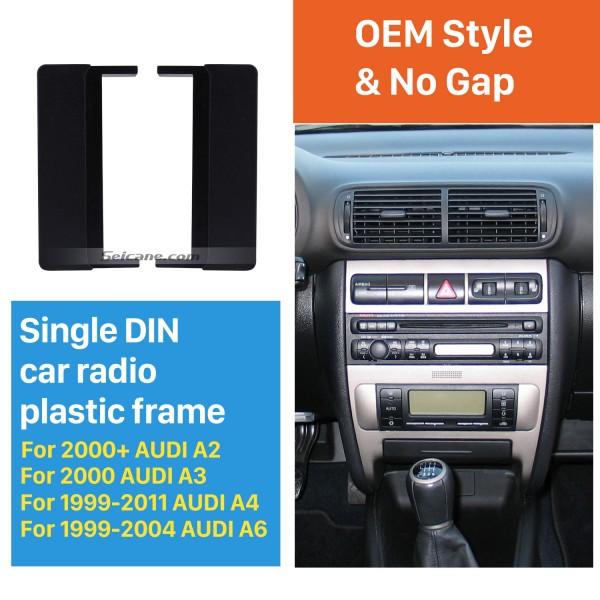 1Din 2000+ AUDI A2 2000 AUDI A3 1999-2011 AUDI A4 1999-2004 AUDI A6 Car Radio Fascia Stereo Frame Panel Installation Kit