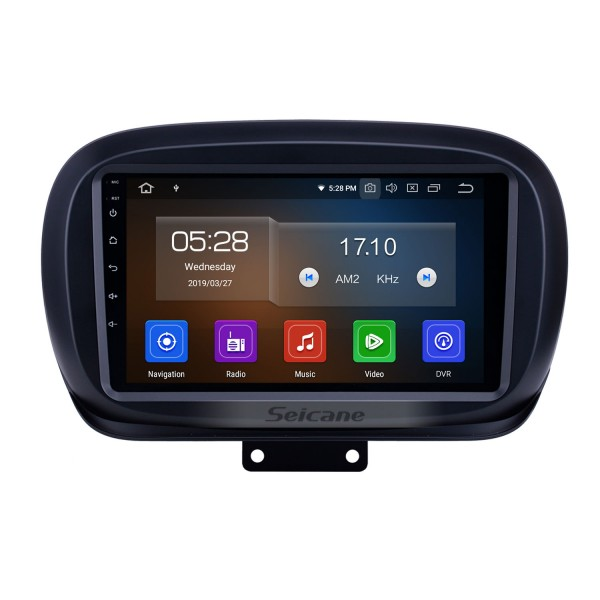 9 inch 2014-2019 Fiat 500X Android 10.0 GPS Navigation Radio WIFI Bluetooth HD Touchscreen Carplay support TPMS DVR Mirror Link