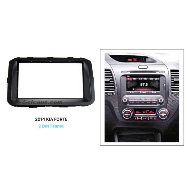 Popular Double Din 2014 KIA FORTE Car Radio Fascia Panel Plate refitting DVD frame Dash Mount Kit
