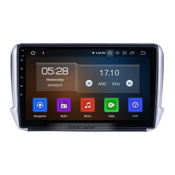 For 2014 Peugeot 2008 Radio Android 10.0 HD Touchscreen 10.1 inch with AUX Bluetooth GPS Navigation System Carplay support 1080P Video
