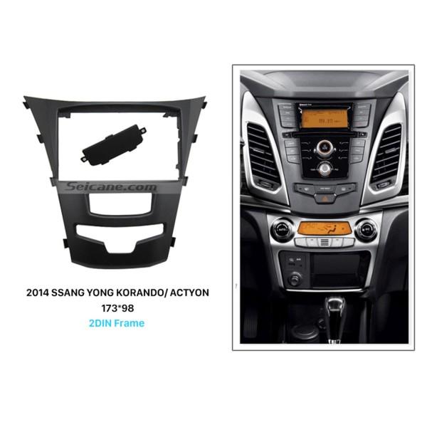 Fabulous 2 Din Car Radio Fascia for 2014 SSANG YONG KORANDO ACTYON Auto Stereo panel Kit Audio Frame Trim Bezel