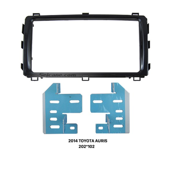 Ideal Double 2 Din 2014 TOYOTA AURIS Car Radio Fascia Stereo Frame Install Face Plate Panel Surround Panel