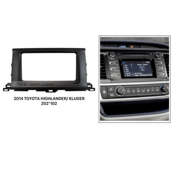 Newest 2Din 2014 Toyota Highlander Kluger Car Radio Fascia Audio Player DVD Frame panel CD Trim